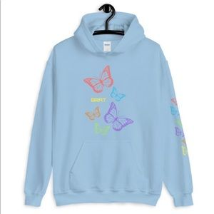 BRAT x Butterfly Rainbow Logo Unisex Hoodie
